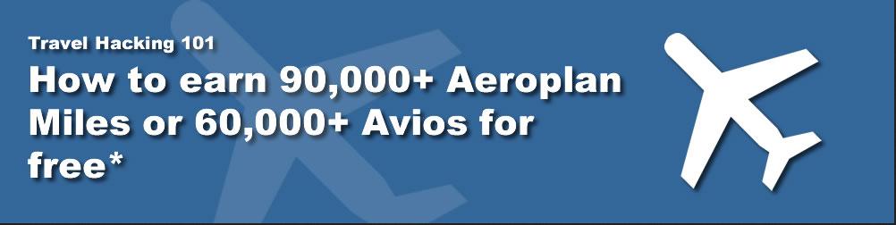 how to get free aeroplan miles