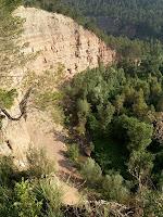 Front d'erosió oriental de la riera Gavarresa des del mirador natural