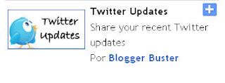 Dicas do Twitter Updates do Blogger Blogspot