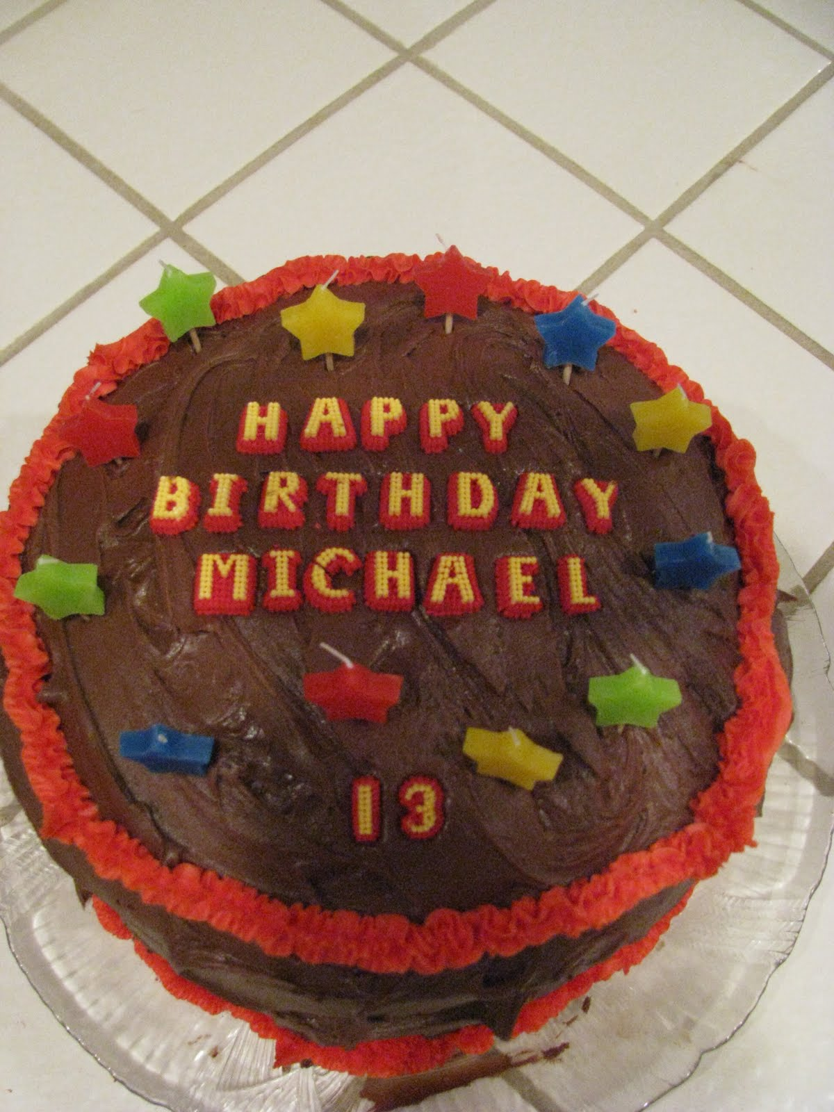 Birthday Cake Images Michael : Family of Four: Happy Birthday Michael!