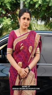 Ramya Krishnan in pink saree