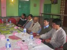 DDUDF apex committee members at a meeting in Kalimpong