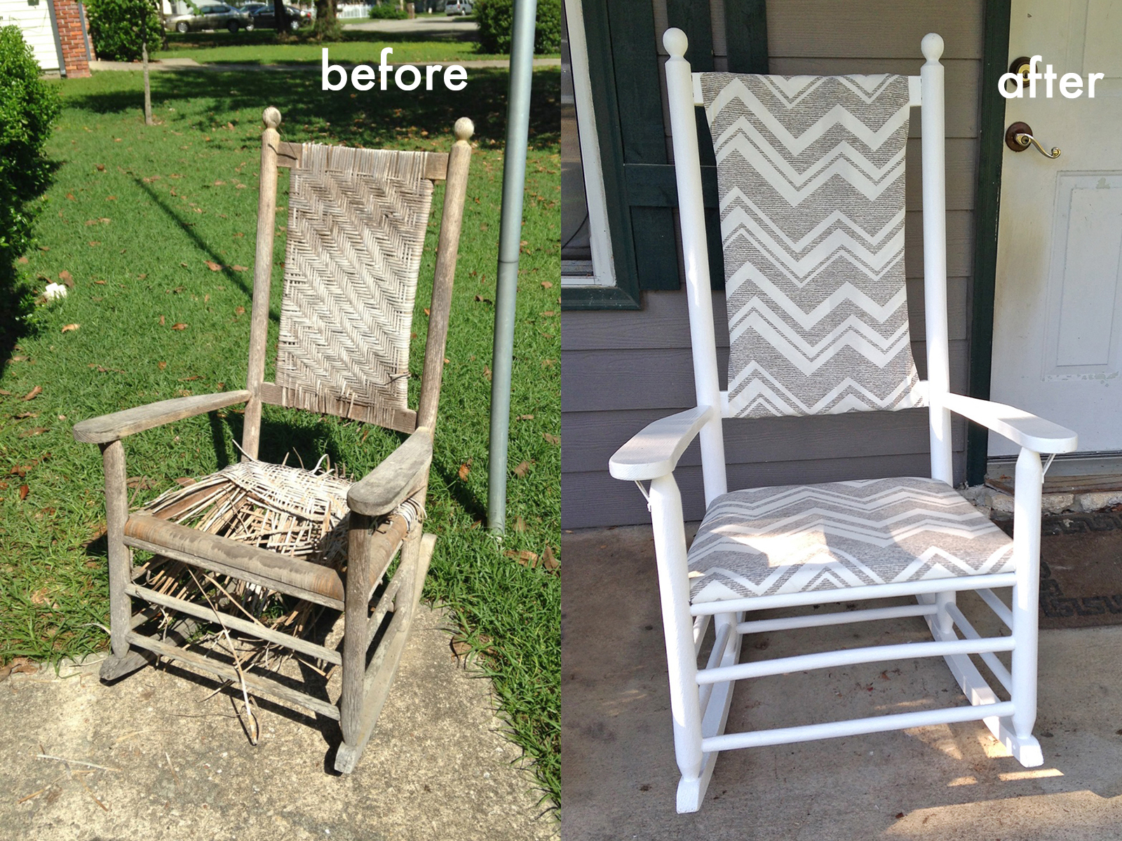 We Can Make Anything rocking chair redo