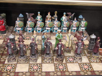A sample of the chess sets from Turkey.