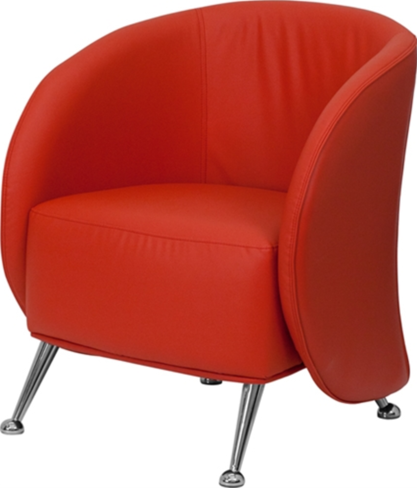 Red Leather Reception Chair by Flash Furniture