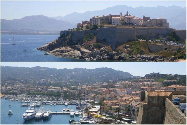 Ciudadela y vistas sobre el puerto de Calvi, Corcega