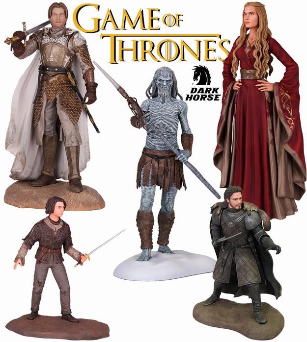 Cersei Lannister, Arya Stark, Jaime Lannister, Robb Stark y el caminante blanco
