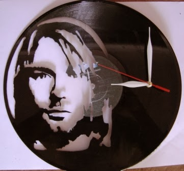 Piringan Hitam Jam Motif Kurt Cobain Nirvana