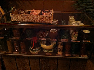 The choice of Tiki Glasses at Psycho Suzi's