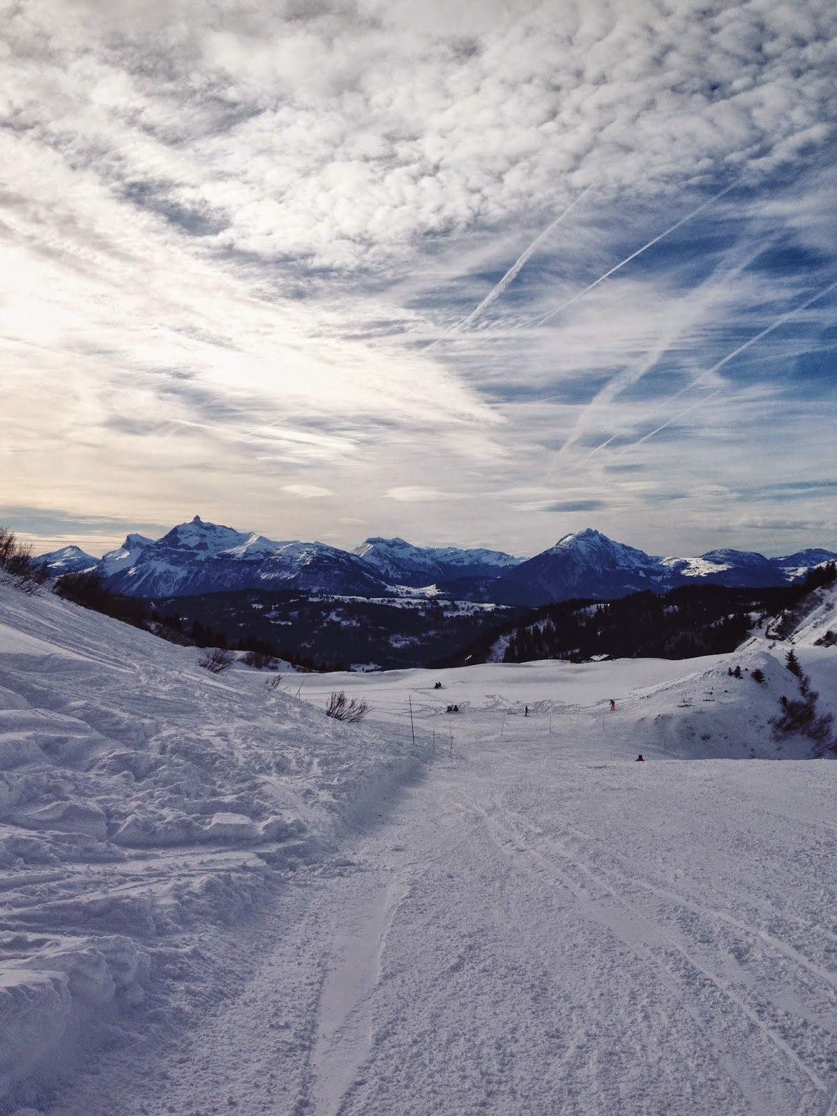 Les Gets, Morzine, clouds, view, beautiful, vsco, snow
