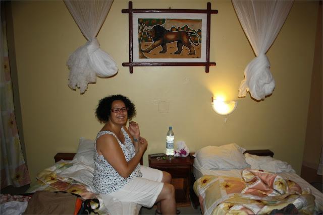 Interior choza <> Campement Chez Salim - Lac Rose