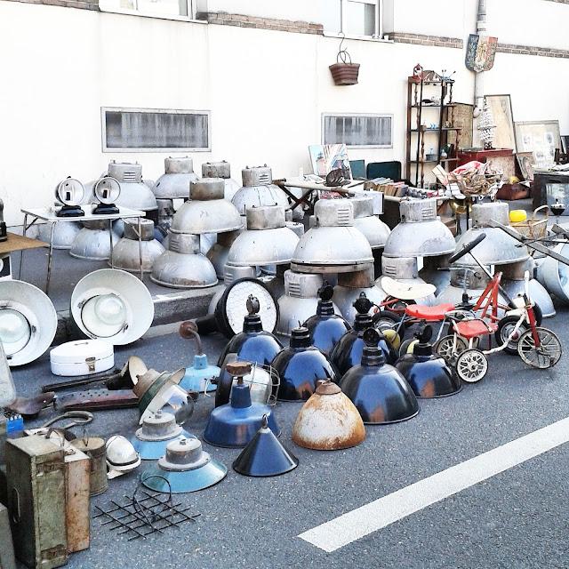 Lampes industrielles / Brocante Amiens / Octobre 2015 / Photos Atelier rue verte /