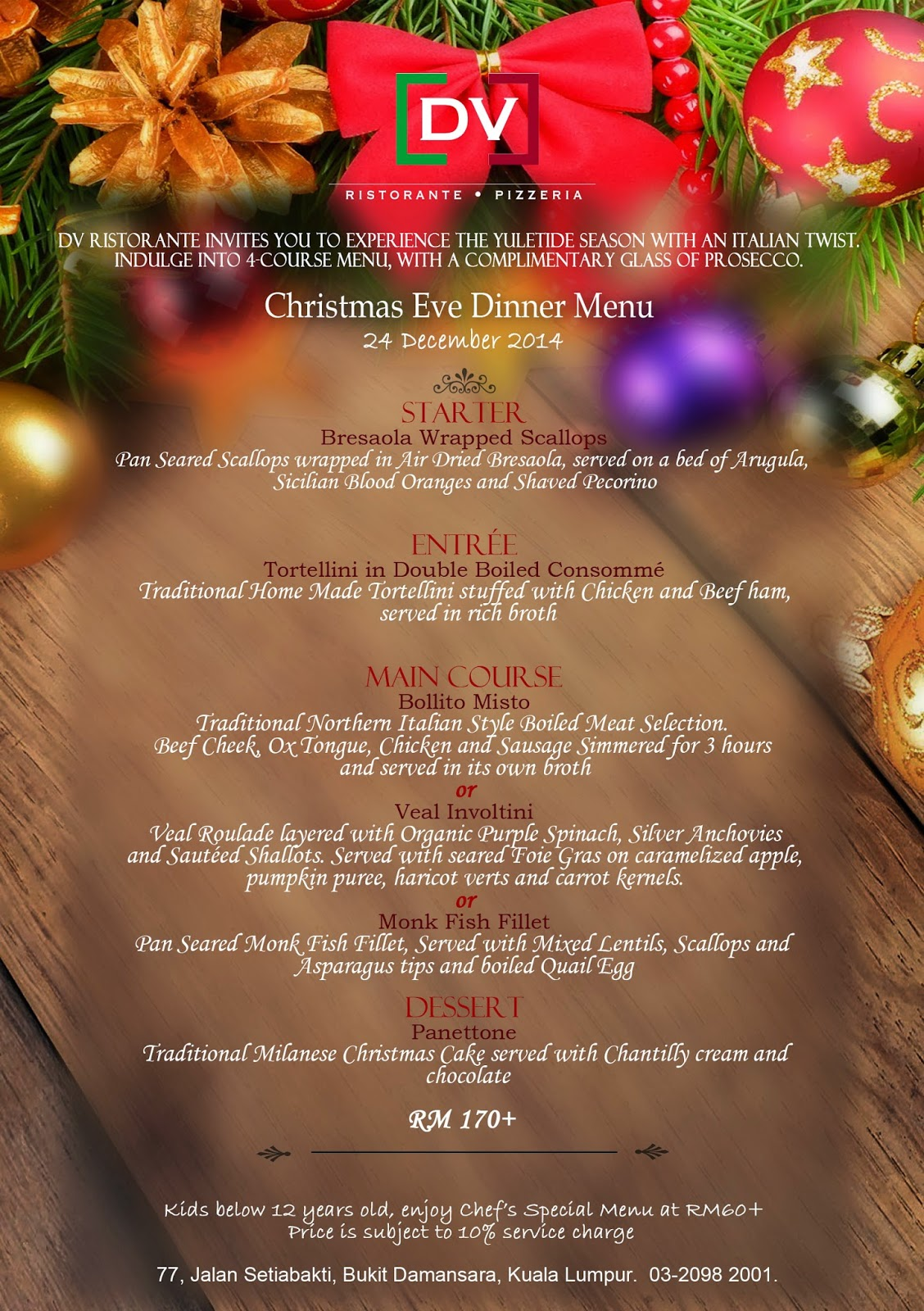 Christmas, Foodie Trail, DV Ristorante Pizzeria, Damansara Heights,