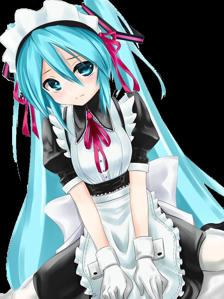 PNG-Hatsune Miku // Maid