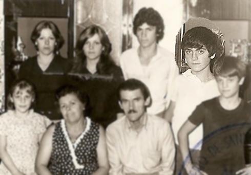 Foto de familia Paco con 11 años.