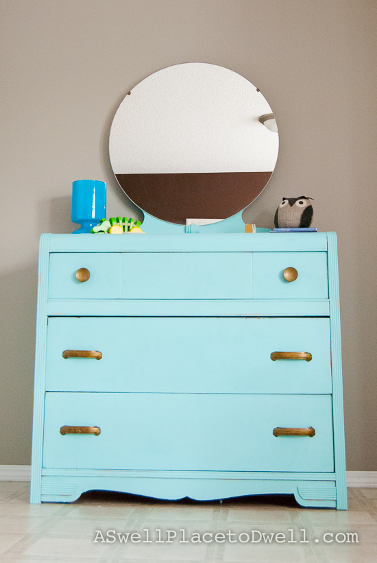 Teal Dresser // www.aswellplacetodwell.com