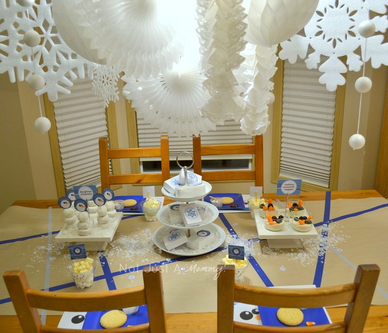 Flurry Of Fun Boy Bash On A Budget snowman winter party theme