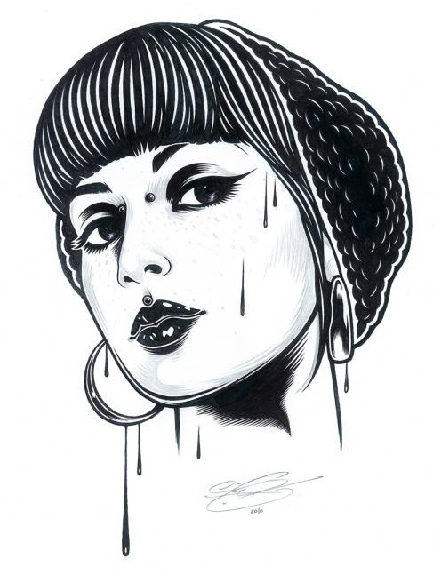 Graphic Design Art Black And White ~ Clairista, Artista May 2011