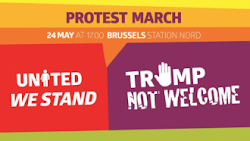 TRUMP NOT WELCOME - 24 MAY 17H AT BRUSSELS STATION NORD