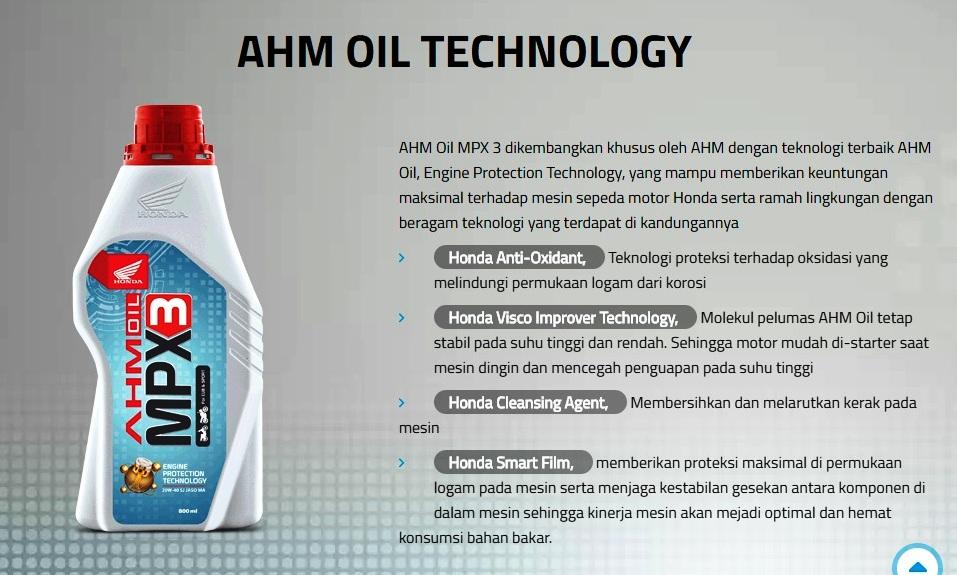 Redcasey Personal Blog 39 S Ahm Oil Mpx3 Oli Resmi Honda