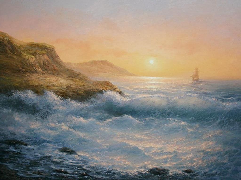 Cuadros modernos pinturas y dibujos paisajes marinos for Cuadros de marinas