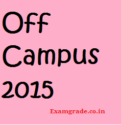 Off Campus in Bangalore for 2015