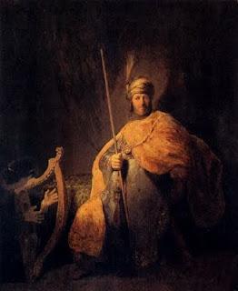 Rembrandt el Rey Saúl