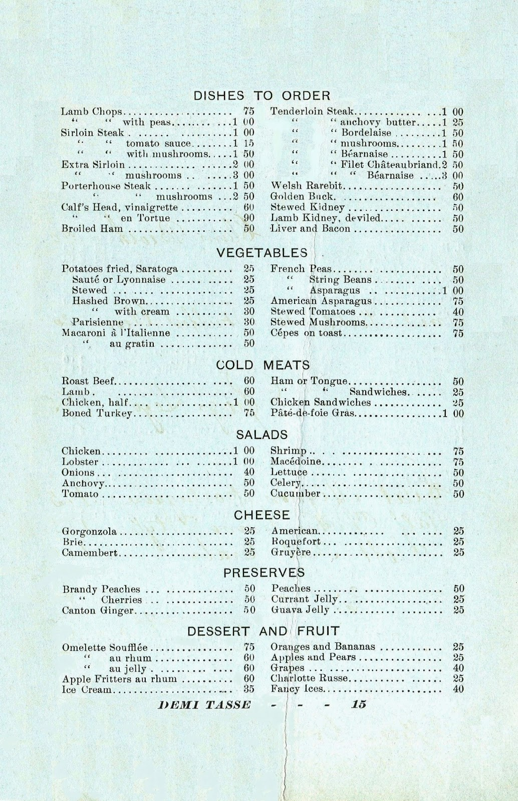 the american menu dining at a love hotel in the gilded age menus