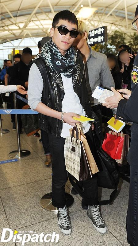 Big Bang at Incheon Airport going to Vietnam