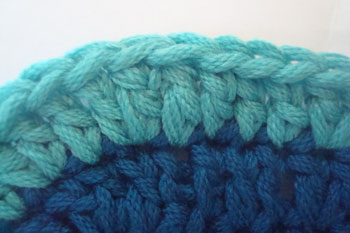 Double crochet join changing color adding new yarn to crochet