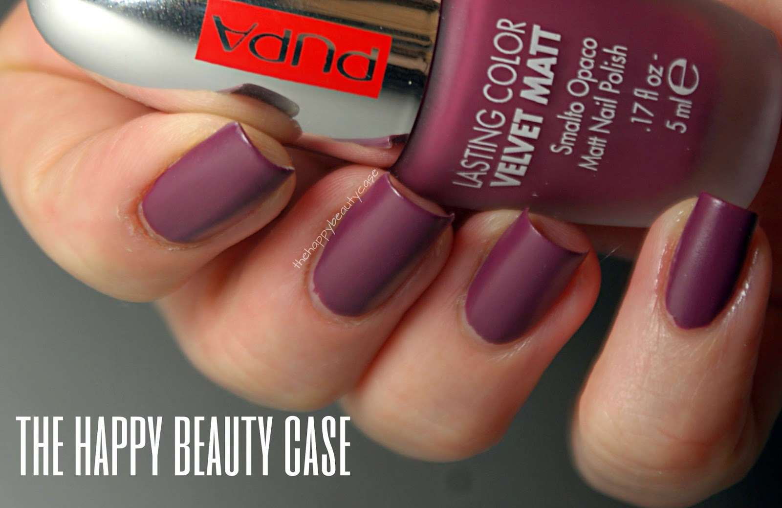 The Happy Beauty Case: Pupa Lasting Color Velvet Matt Swatch and Review