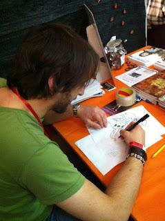 Enrico Bante a Lucca Comics