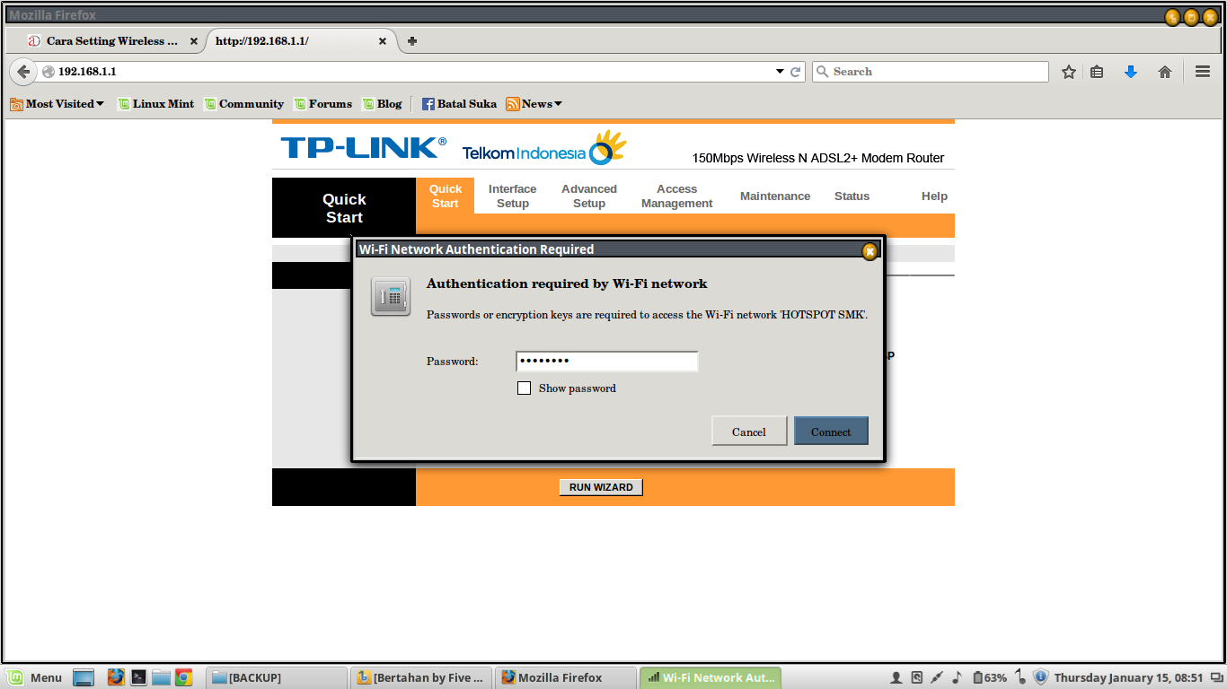 how to change tp link wireless n router password