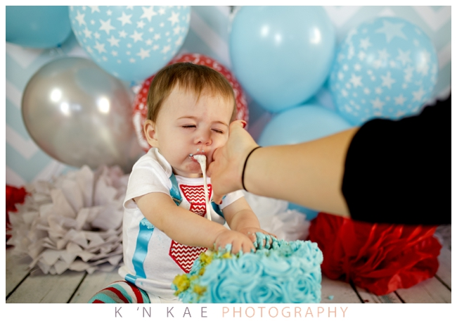 Cake Smash Session, Boy, One Year old, Blue, Bow Tie, Rose Cake, k 'N kae Photography, Colorado Springs, Child Photographer, Fort Carson