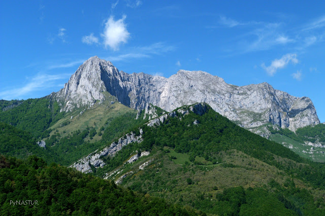 Tiatordos peak from Peloño Forest Asturias Spain