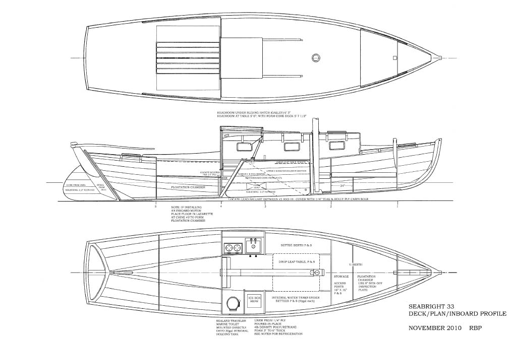 Scott's Boat Pages: SEABRIGHT 33: A New Reuel Parker Design