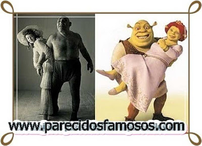 El Luchador Maurice Tillet con Shrek