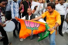 BJP Workers celebration on election 2014 victory