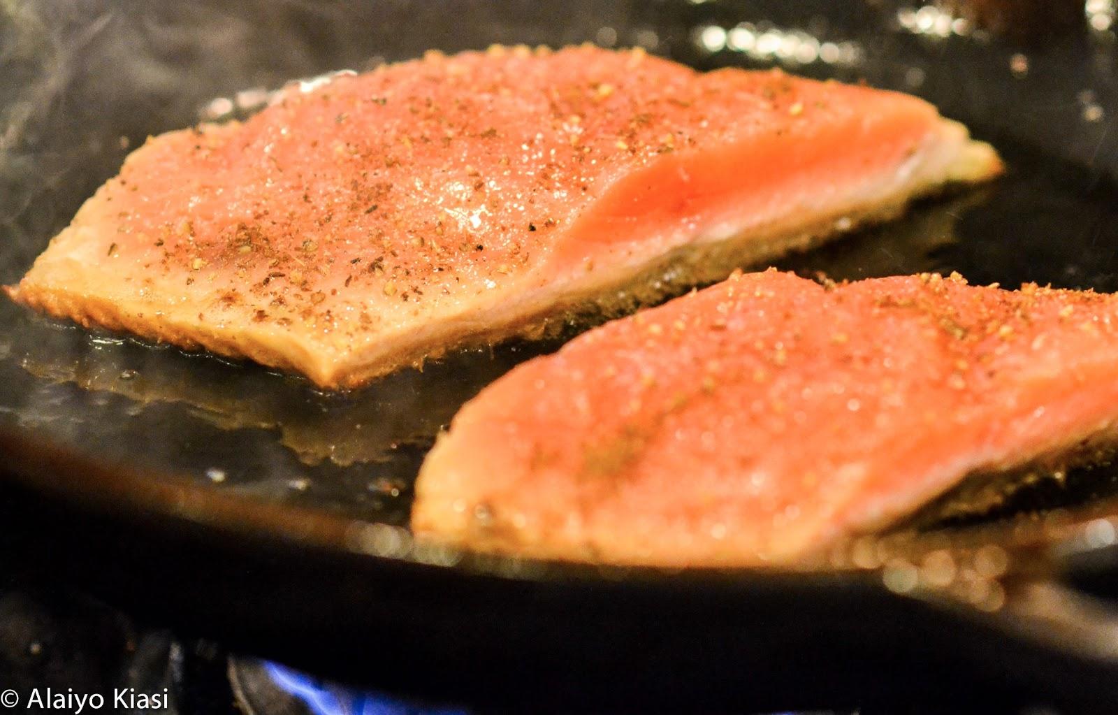 Sear roasted keta salmon with fennel pear salad alaskaseafood pescetarianjournal ccuart Choice Image