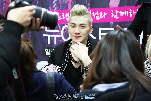 [Pic][31/03/12] Nu'est (Baekho) - Jamsil Hot Track Fansign event 4