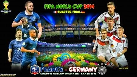 Hasil Skor Akhir: PRANCIS vs JERMAN 8 Besar Piala Dunia (Jum'at, 4 Juli 2014)