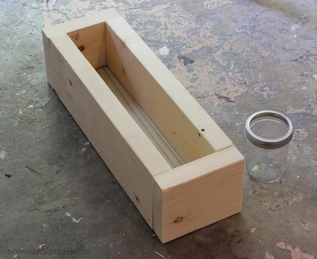 serenity now scrap wood and mason jar centerpiece diy project tutorial. Black Bedroom Furniture Sets. Home Design Ideas