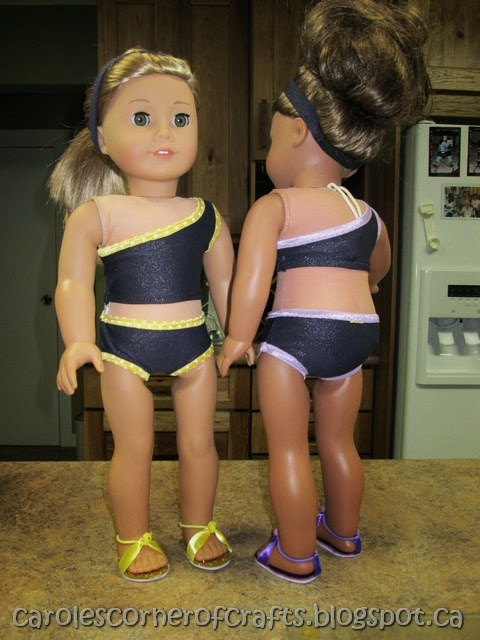 American Girl Doll Bikini Tutorial and Sandals Tutorial AG003