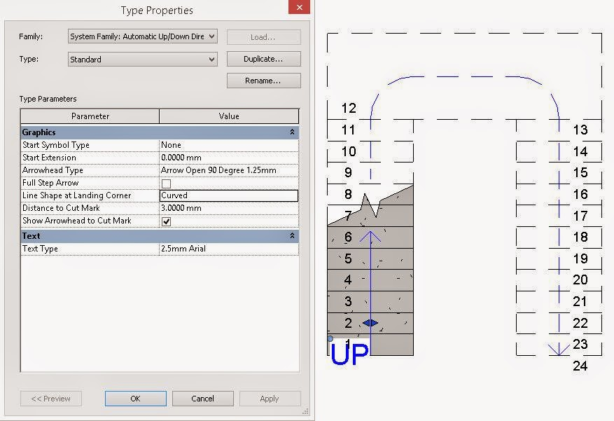 Drawing Property Lines In Revit : Revit recess curved stair path representation