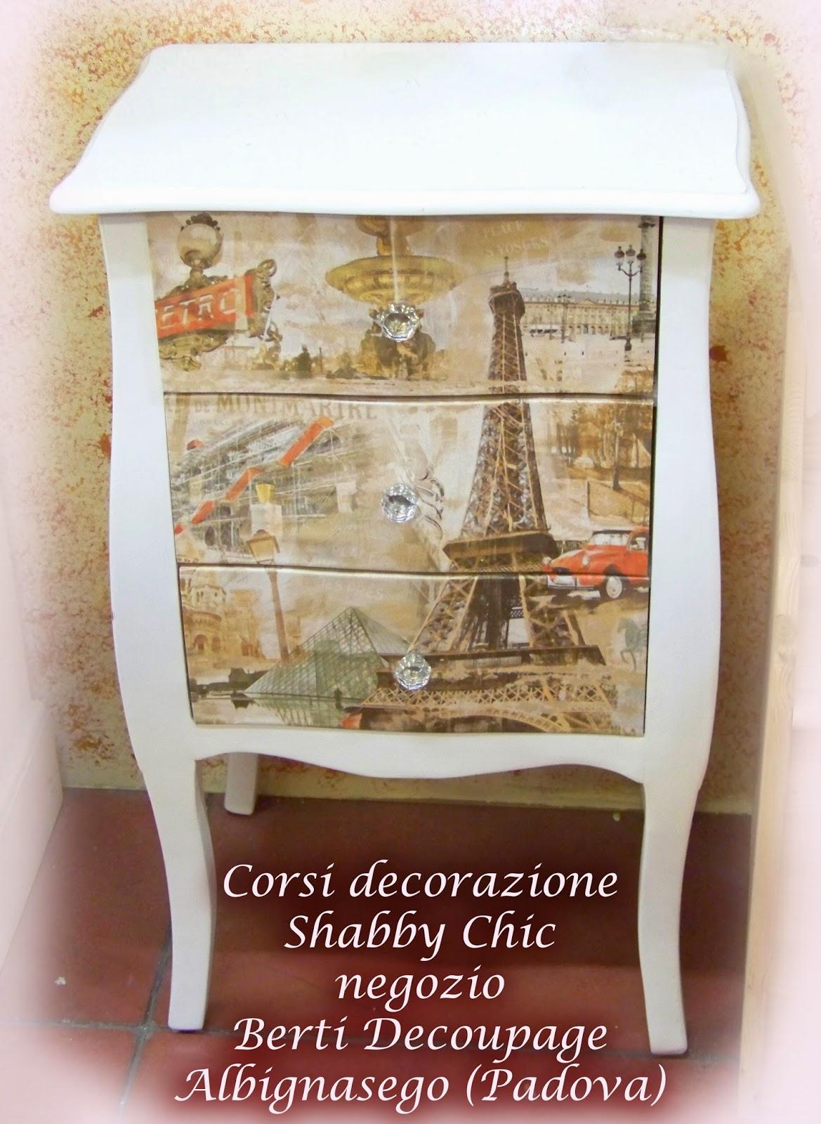 Berti decoupage blog corso di decorazione shabby chic for Mobili shabby chic