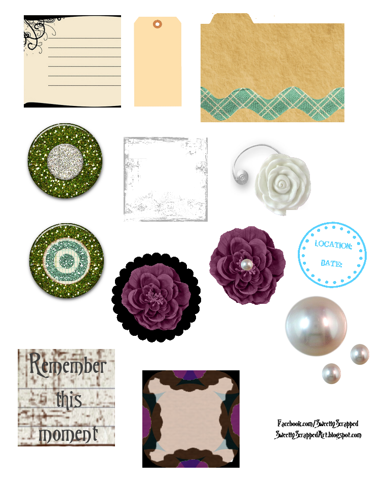 Simplicity image within printable scrapbook embellishments