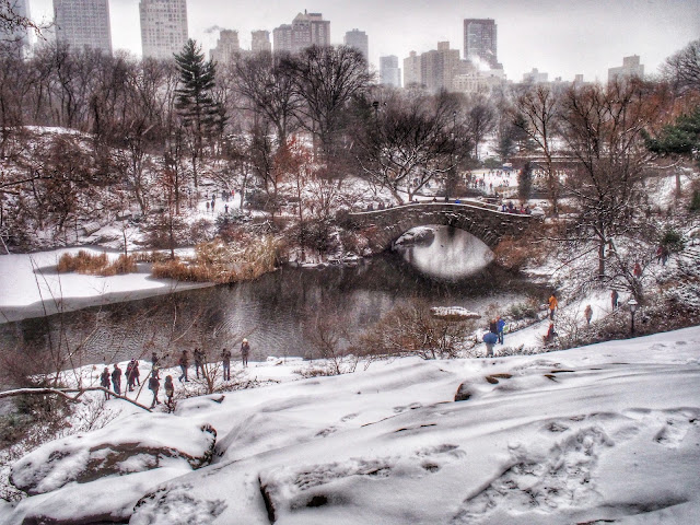 Gapstow Bridge - #NYCSnow1214 Central Park #NYC