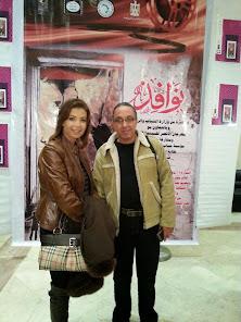 هشام لاشين ومنال سلامة في حفل تدشين مشروع )نوافذ)