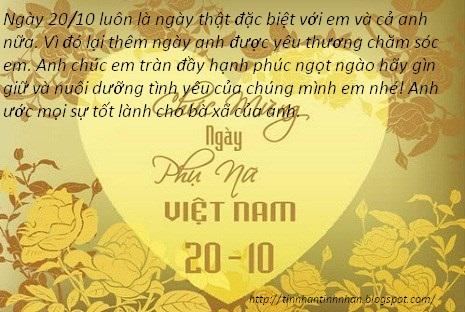 Tổng hợp lời chúc ngày phụ nữ Việt Nam 20-10-2015