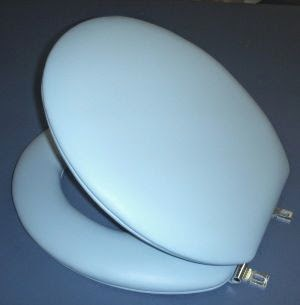 designer padded toilet seat available in Standard or Elongated and 40 colors. BathBeautiful.com